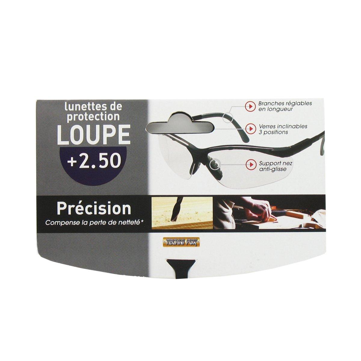 4b631dcef7b7b2 Lunette de Protection loupe précision 2.50  Amazon.fr  Bricolage