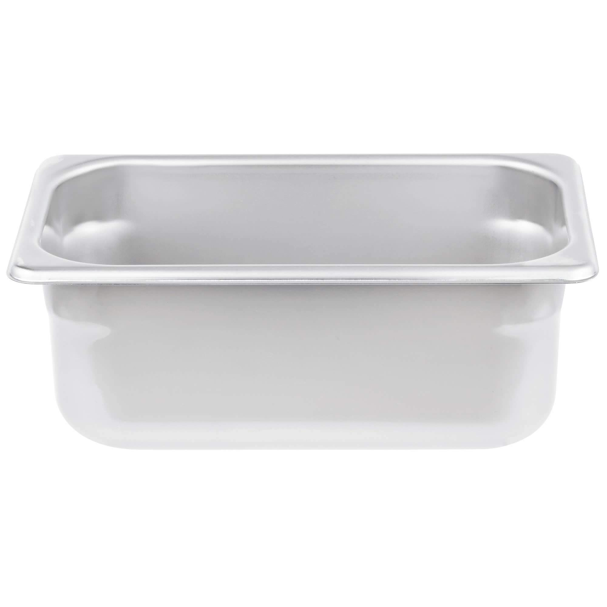 TableTop King S10064 Super Pan Heavy-Duty 1/4 Size Anti-Jam Stainless Steel Steam Table/Hotel Pan - 4'' Deep by TableTop King
