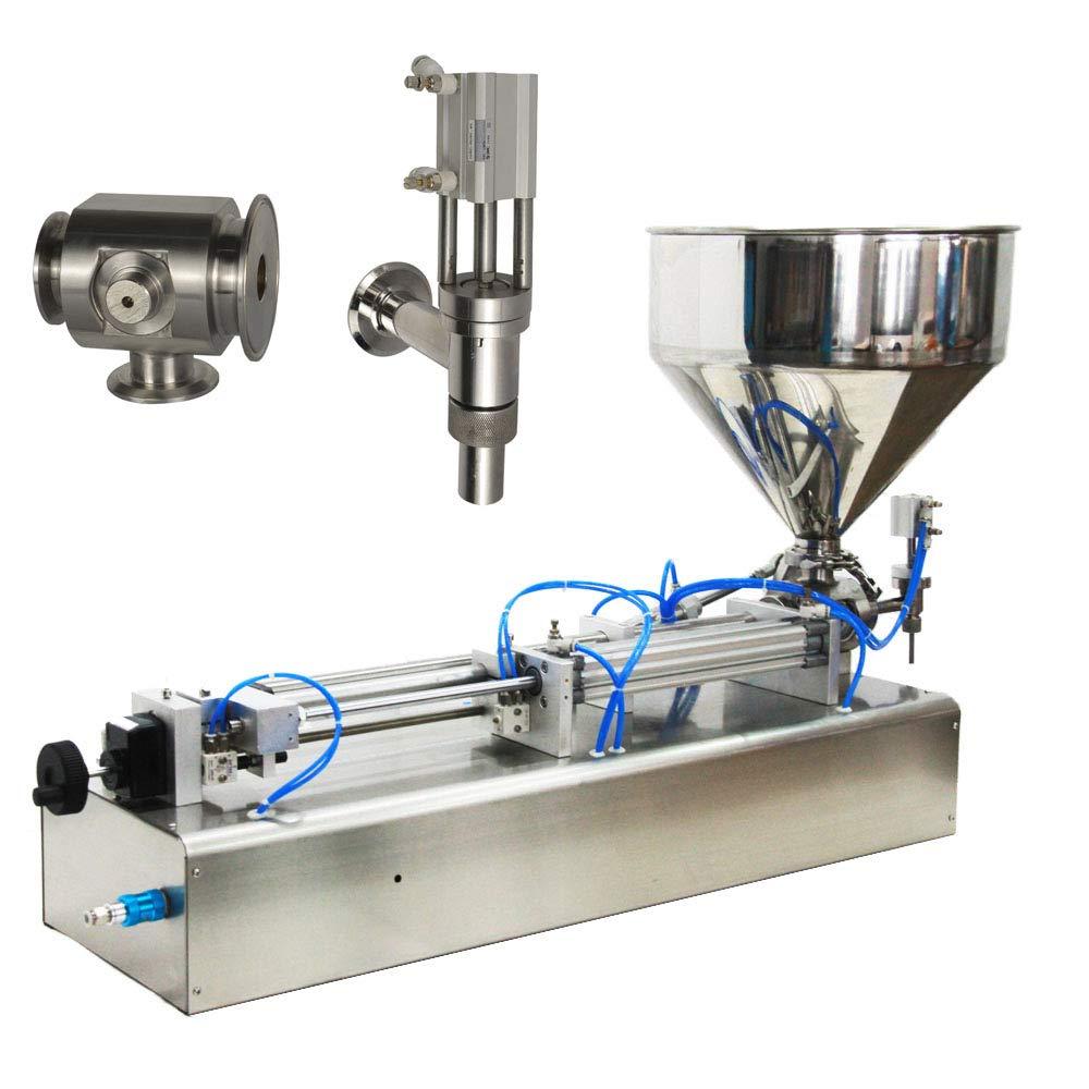 Pneumatic Filling Machine 50-500ml Semi-auto Pneumatic Liquid Filling with 40L Hopper Liquid Filling Machine for Liquid and Paste Filling (10-100ml) by Youlian (Image #2)