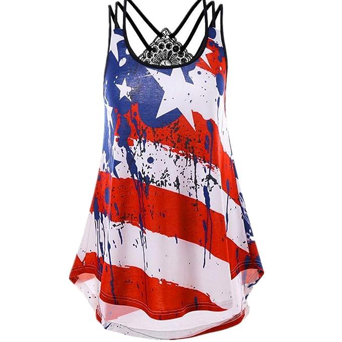 Amazon.com: Inverlee - Camiseta sin mangas para mujer ...