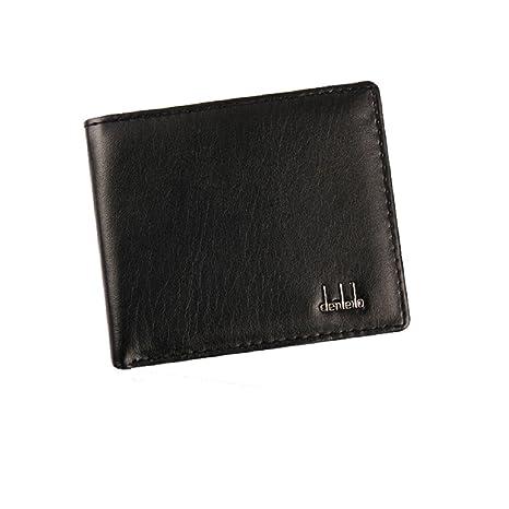 Tonsee® hombres Bifold Negocio Cartera de cuero ID tarjeta de Crédito Titular monedero bolsillos, negro, length 11.2cm width 9.5cm