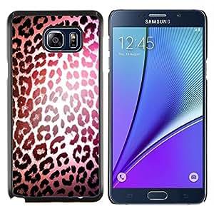 Patrón Leopard luz reflectante Piel- Metal de aluminio y de plástico duro Caja del teléfono - Negro - Samsung Galaxy Note5 / N920