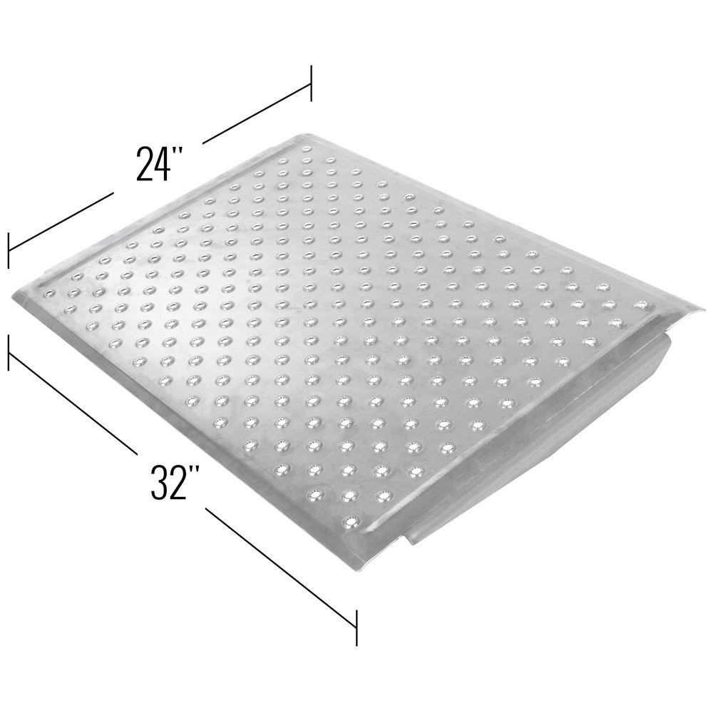 Discount Ramps Aluminum EZ-Traction Curb Ramp - 24'' x 32'' by Discount Ramps (Image #2)