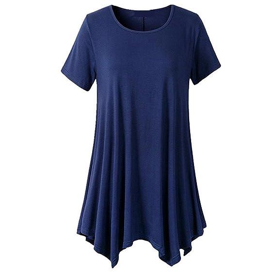 FAMILIZO Camisetas Mujer Verano Blusa Mujer Elegante Camisetas Mujer Largas Manga Corta Algodón Camisetas Mujer Fiesta Camisetas Originales Camisetas Mujer ...