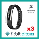 Fitbit Alta HR Screen Protector Front Military Grade Protection - Pack of 3