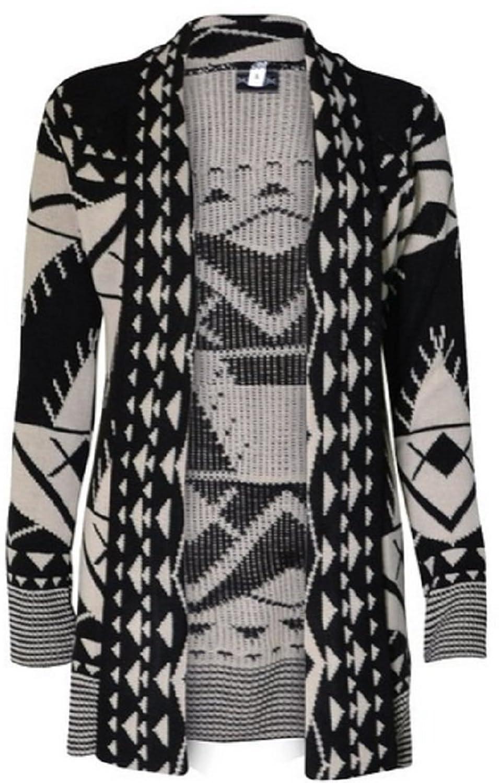 SugerDiva Skull Print Open Knitted Cardigan at Amazon Women's ...