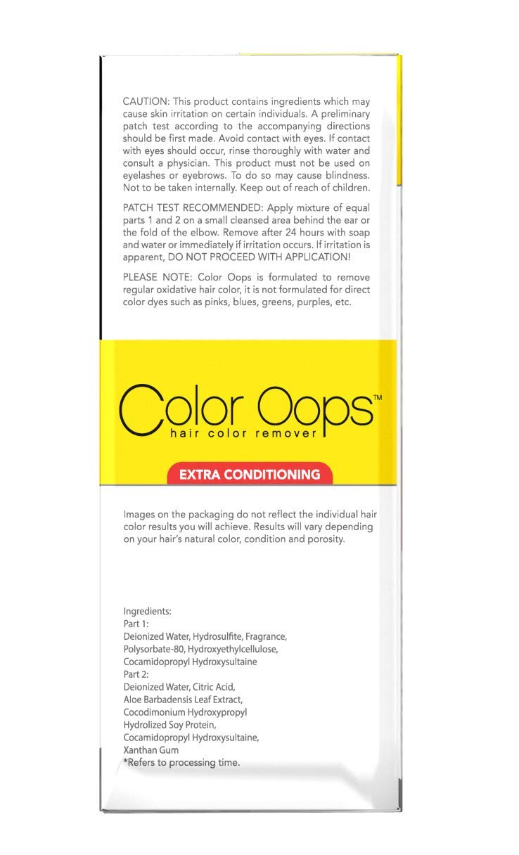 Amazon.com : Color Oops Extra Conditioning Hair Color Remover, Pac :  Shampoo Color Remover : Beauty