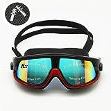 24246e75b749 Rx Prescription Swim Goggles Myopia Swimming Glasses Optical Corrective Snorkel  Mask Free Ear Plugs