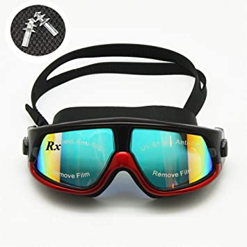 fe3fc41244 Rx Prescription Swim Goggles Myopia Swimming Glasses Optical Corrective  Snorkel Mask Free Ear Plugs
