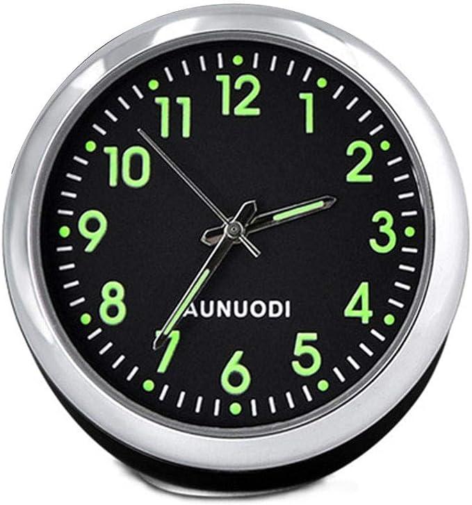 d/écoration Maison /étude Volwco Mini Horloge de Tableau de Bord de Voiture rectangulaire analogique /à Quartz pour Console de Tableau de Bord de Voiture