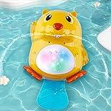 iPlay, iLearn Automatic Baby Bath Toys, Beaver Water Spray Bathtub Float Toy W/ Lights, Kids Fun Squirt Bathtime, Shower…