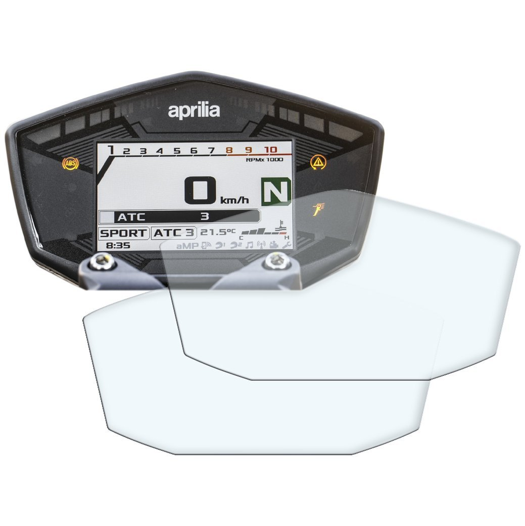3 x Aprilia Dorsoduro 750 Armaturenbrett Tacho Displayschutzfolie Ultra-Klar
