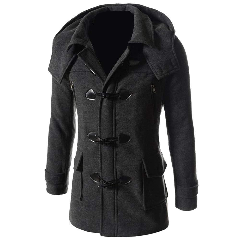 G-Real Double Breasted Pea Coat, Trench Coat Fleece Jacket Overcoat Outwear for Men Boys