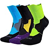 LingTu Elite Compression Cushion Athletic Socks for Basketball Running Hiking Sports