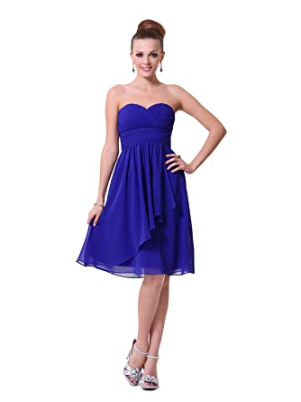 Gorgeous Royal Blue Strapless Bridesmaids Cocktail Dress UK NEXT DAY DELIVERY (UK10)