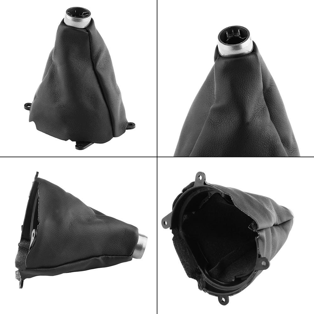 Estink Gear Shift Boot Manual Gear Shift Gaiter Cover with Soft PU Leather as Replacement for Honda Civic 2006-2012 Black