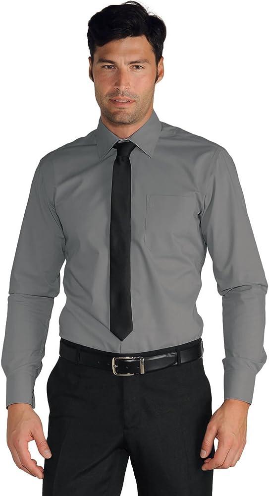 Isacco Camisa Hombre Cartagena gris, gris, S, 65% poliéster 35% algodón, manga larga: Amazon.es: Industria, empresas y ciencia