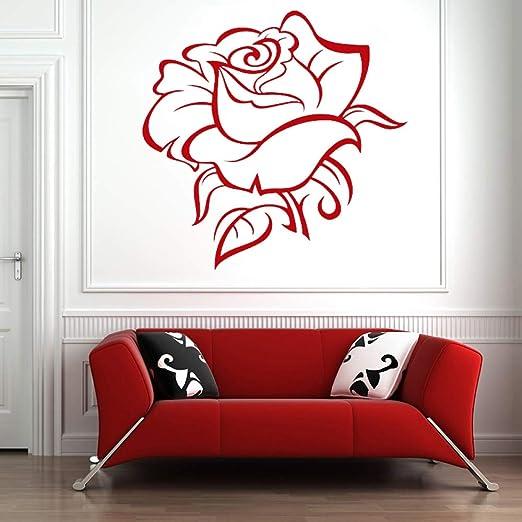 JXWH Rose Tatuajes de Pared Flor Planta Lily Rose Diente de león ...