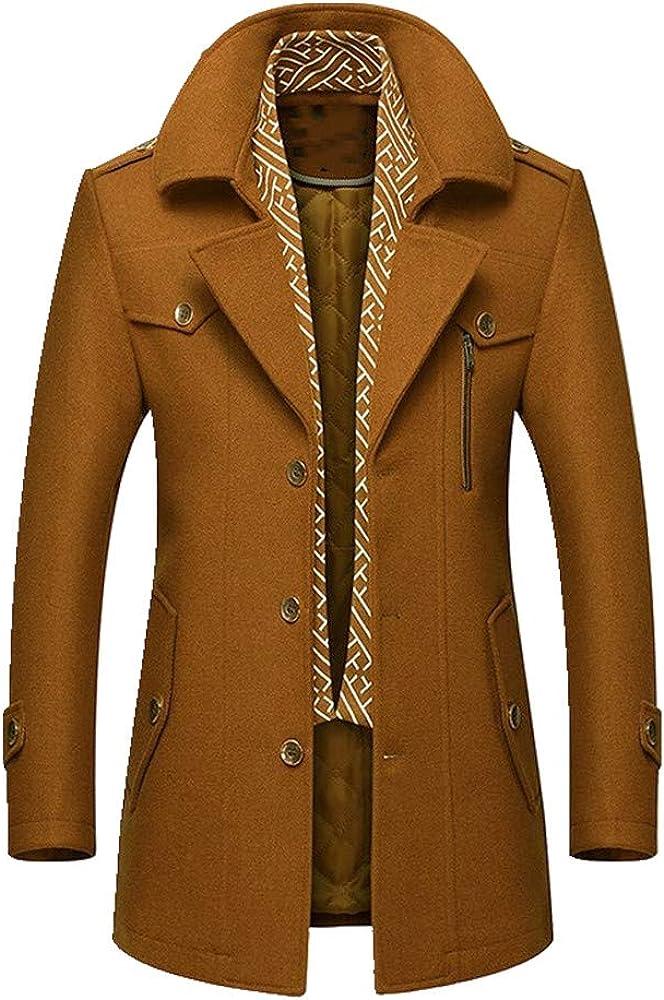 N\P Los hombres de mediana edad otoño e invierno casual abrigo grueso cálido ropa de papá