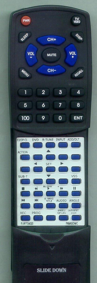 Panasonic EUR7724020 PVDF2004 PVDF2004K PVDF2035 PVDF2704 PVDF2704K PVDF2735 PVDM2094 PVDM2794 Remote Control