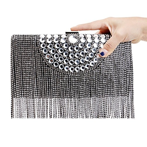 Banquet Tassel Bride Foreign evening Party Evening Bag American Black Trade Ladies Fly Color Gold bag Luxury Exquisite Bag European Clutch And qw0xtwaOFY