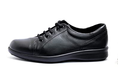 42916acc8dad DB easy b PHOEBE Great everyday Black Ladies Lace-Up Shoes in EE (Extra  Wide) Fitting