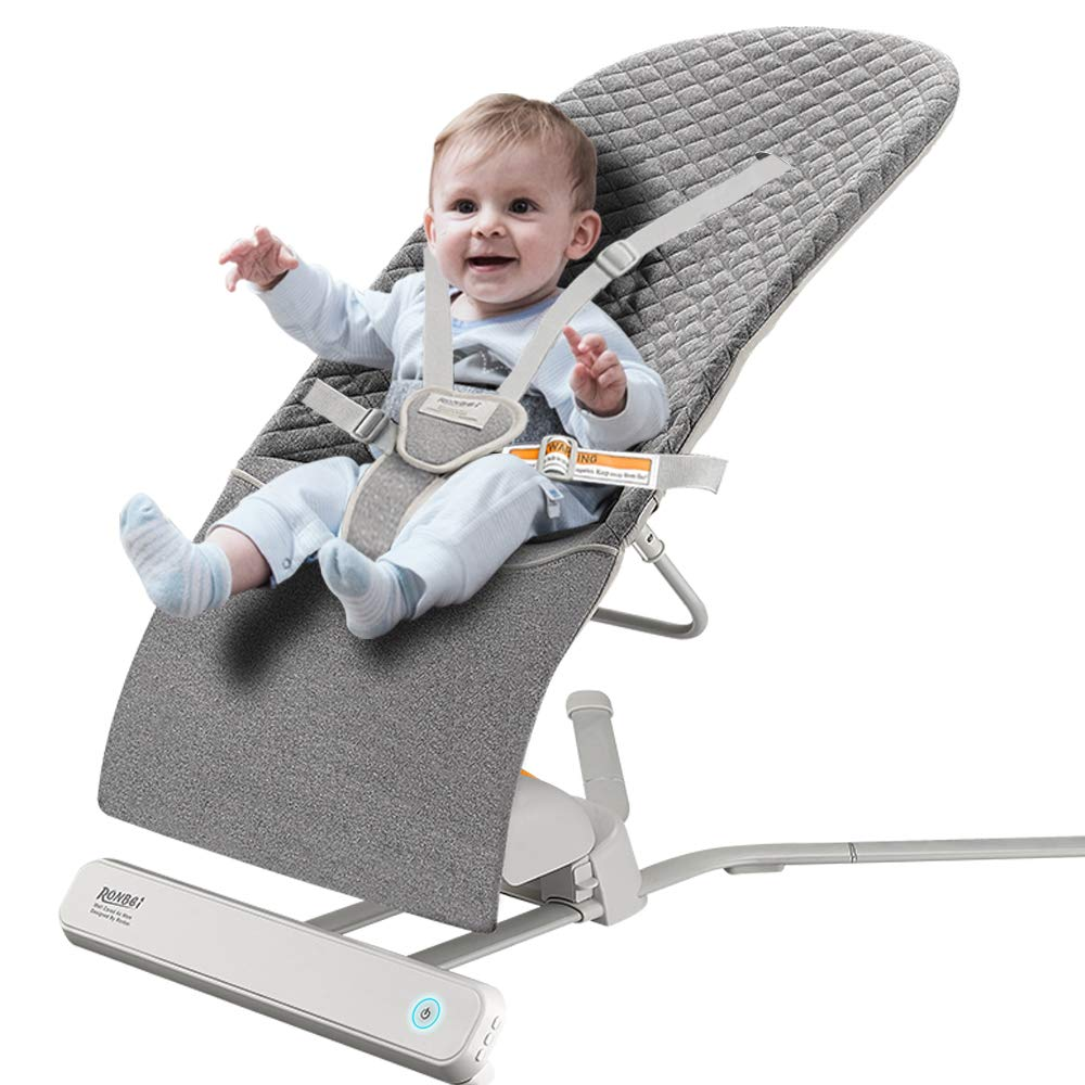 Baby Bouncer, RONBEI Baby Swing for Infants,Travel Swing for Baby,Automatic Swing Bouncer for Baby Girl Baby Boy Dark Grey