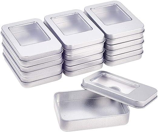 BENECREAT 10 Pack Rectángula Caja de Almacenamiento de Metal con ...