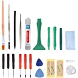 MMOBIEL 22 in 1 Professional Universal repair Tookit incl Adhesive stickers Opening Tools PVC Suction Cup Screwdriver Set for Smartphones iPad PSP NINTENDO