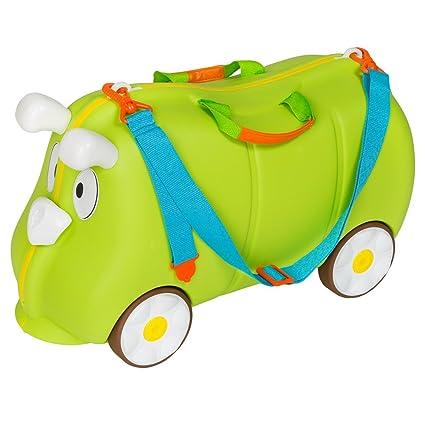 TecTake Maleta de Viaje con Ruedas para niños Coche Infantil Caja de juguettes (Verde |