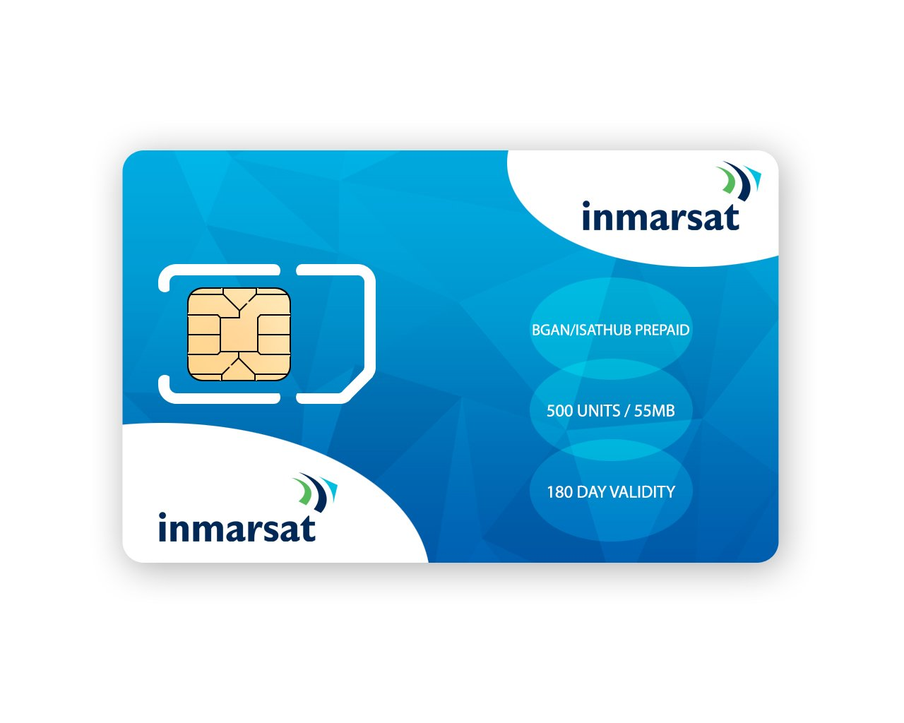 Inmarsat BGAN & IsatHub Prepaid SIM Card with 500 Units (54MB)
