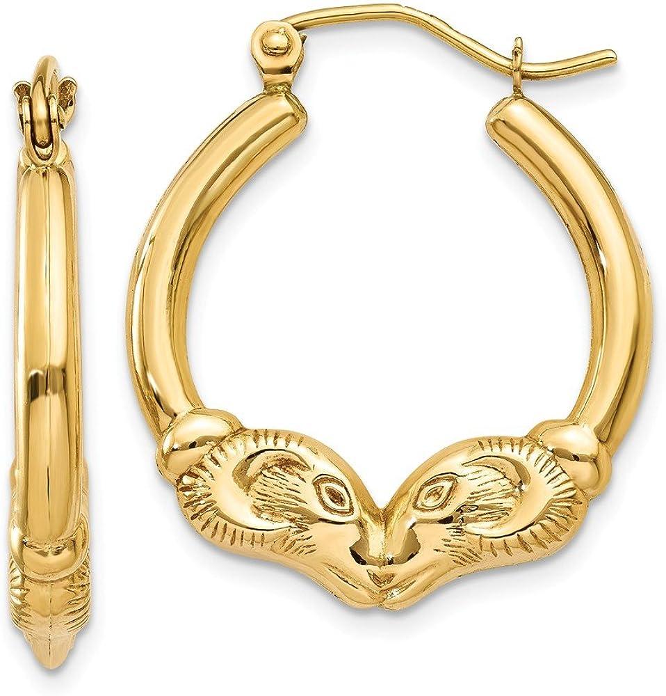 Ram Horns Hoop Earrings In...