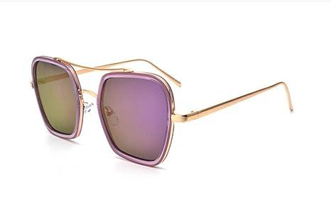 LQABW Scatola Quadrata Occhiali Da Sole Davvero Brillante Degli Uomini Di Colore E Modelli Delle Donne Popolare Moderna,Type5