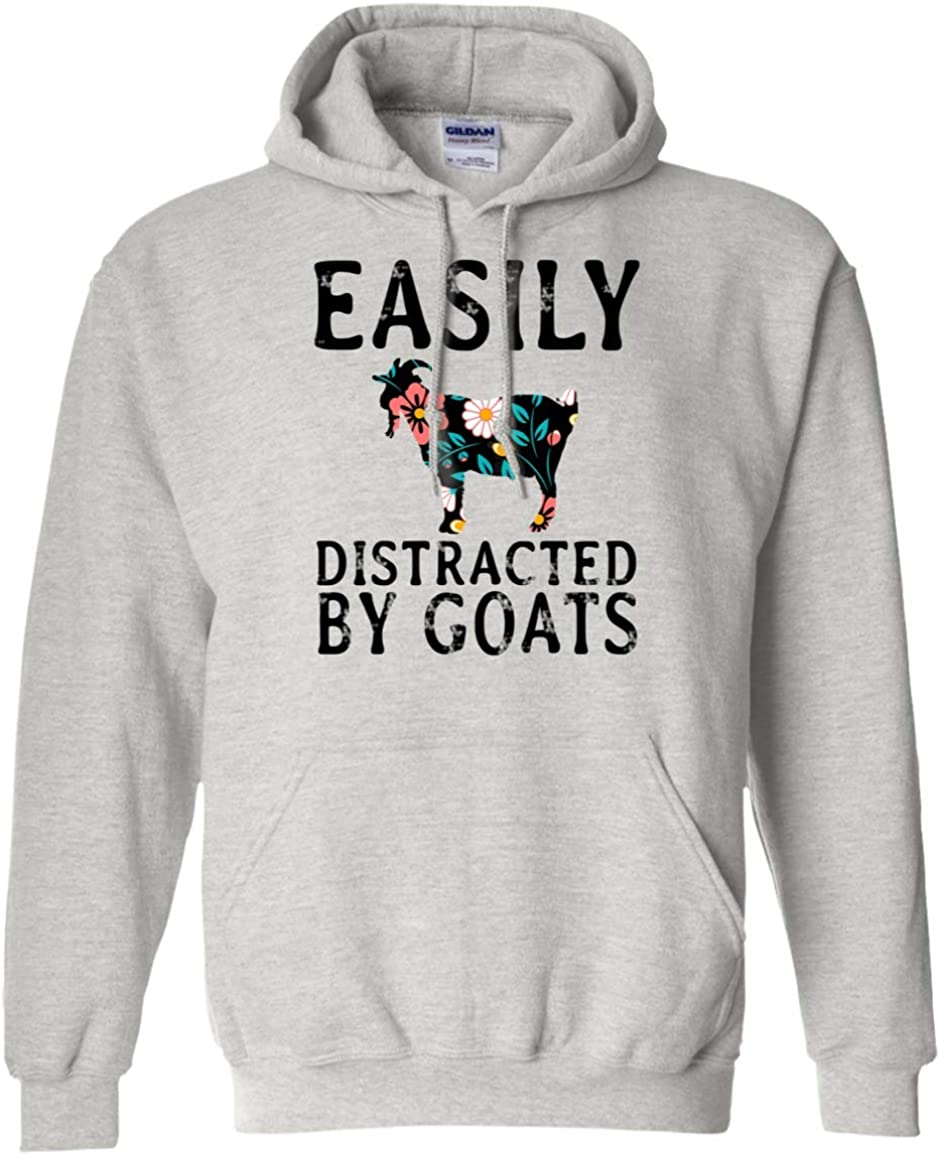 Mens Classic Pullover Hoodie Sweatshirt,Easily Distracted by Books Print