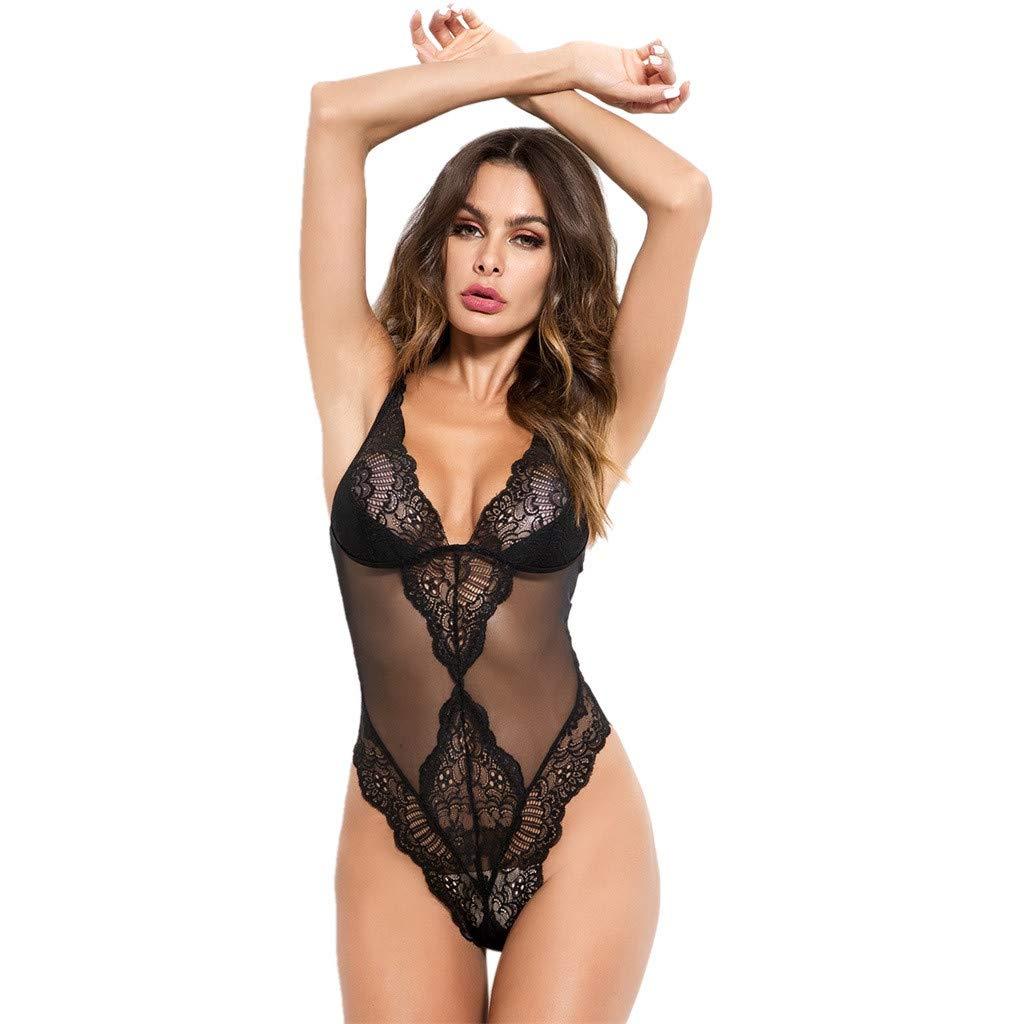 b8ec1940279 Givekoiu 2019 Womens Lace Bodystocking Sexy Lingerie Body Stockings Plus  Size