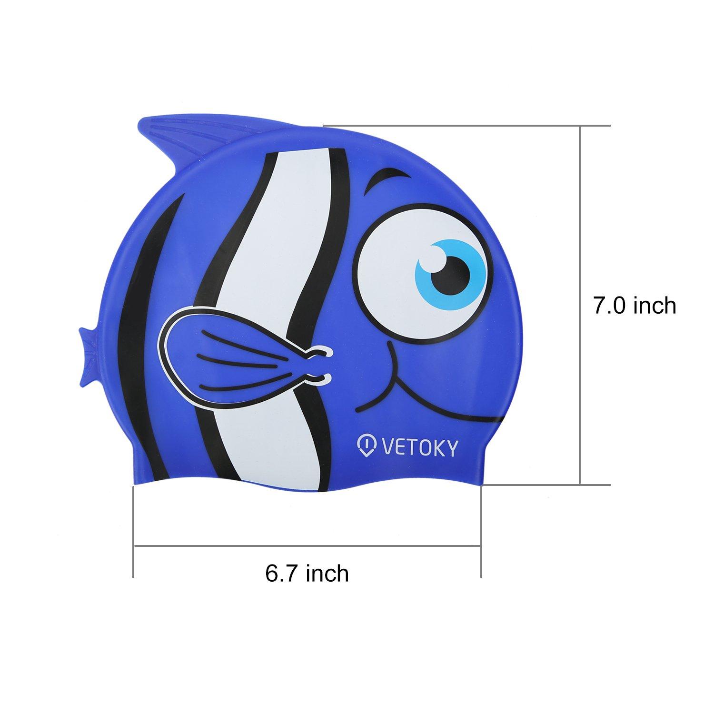 Cuffie-Nuoto-Bimba-Adulto-Piscina-Professionali Swim Cap Vetoky Bambino  Graduati ingrandisci 161f4192a61c