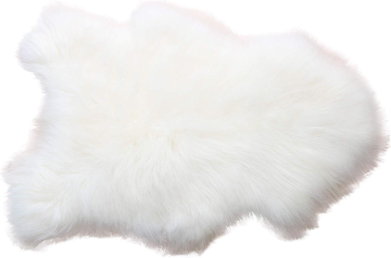 Öko// Faux Lammfell Schaffell Teppich Sofa Matte Fell Naturfell Weiß 65*102cm