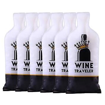 Selric Wine Traveler, Paquete de 6 Protector de Bolsas para botellas / Bolsa de Regalo