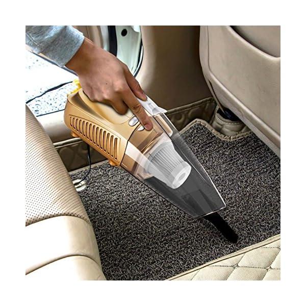 Car Vacuum Cleaner Cheyoll 4 In 1 12V 100W Handheld Portable Car Vacuum WetDry Multi Function 1476ft 45M Power Cord HEPA Washable Filter