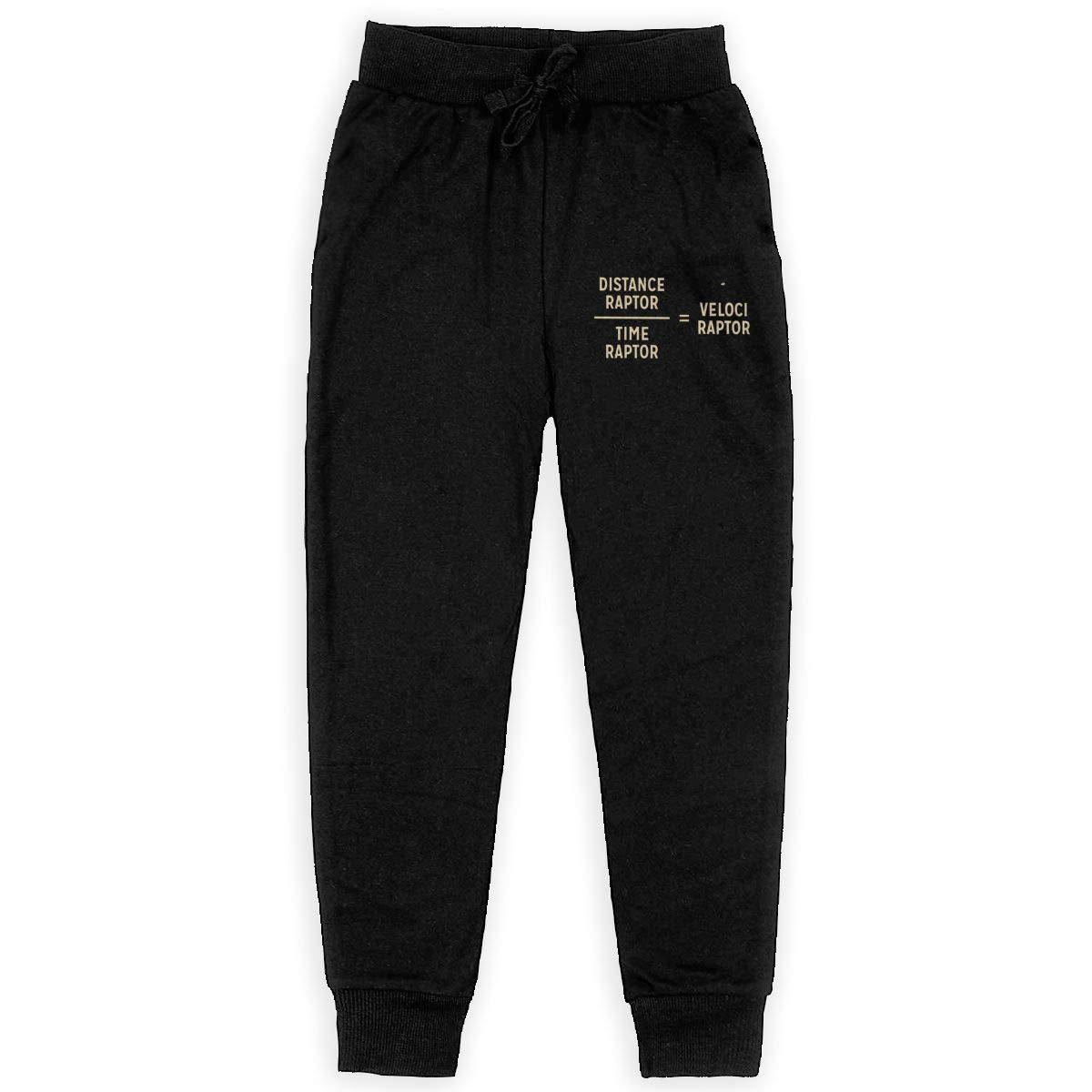 Dunpaiaa VELOCI Raptor Boys Sweatpants,Joggers Sport Training Pants Trousers Black