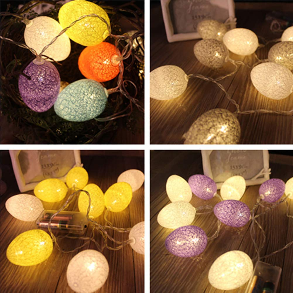 Amazon Com Easter Eggs Led String Lights Battery Operated Fairy
