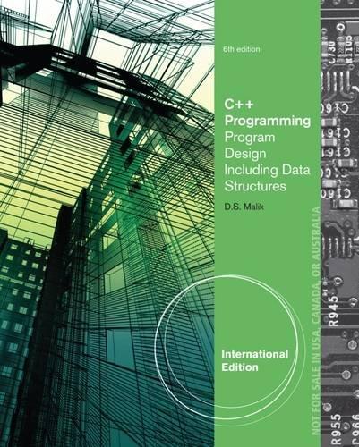 C++ Programming: Program Design Including Data Structures