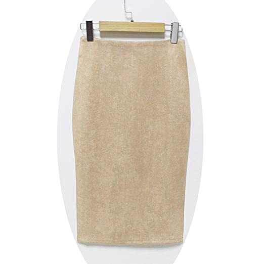 f84d3a3322a505 Fashion Empire 2019 Faux Suede Pencil Skirt High Waist Bodycon Split Thick  Stretchy Skirts,Small