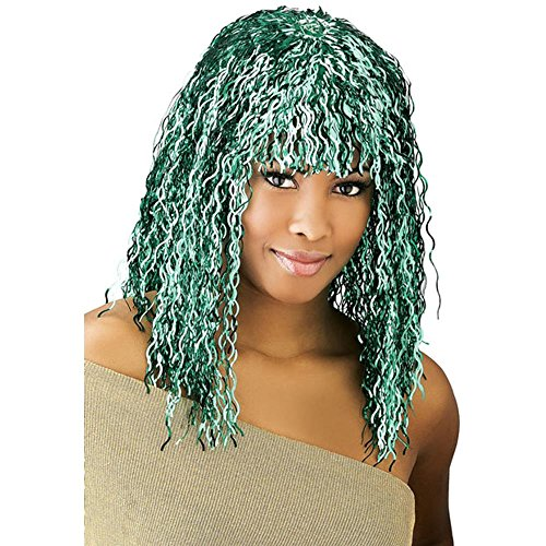 Adult Green Tinsel Costume (Green Tinsel Wig)