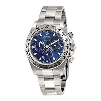 Amazon Com Rolex Cosmograph Daytona Blue Dial 18k White Gold Oyster