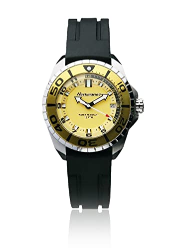 Neckmarine Reloj de cuarzo NM1045907C Negro/Amarillo 37 mm: Amazon.es: Relojes