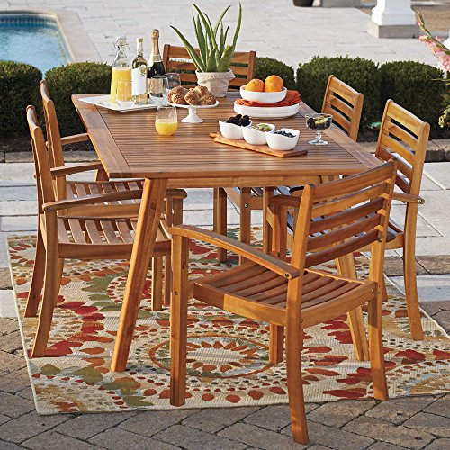Westerly Acacia Wood Stacking Chairs  Set Of 2