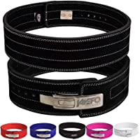 """Jayefo Genuine Leather Lever Belt for Powerlifting Men & Women 10MM Thick 4"""" Wide Easy to USE Workout Deadlifts Squats"""