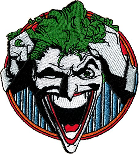 Batman Series The JOKER Grabbing Hair and Laughing Embroidered PATCH