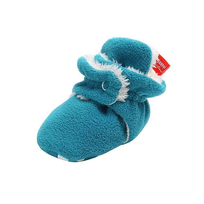 Yahoo Zapatos para niños Zapatos de Felpa para niños pequeños Calzado cálido Zapatos de algodón para bebés recién Nacidos bebés Botines de Lana acogedores ...
